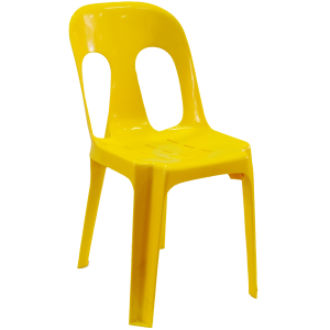 Pipee Slotted Chair - Yellow