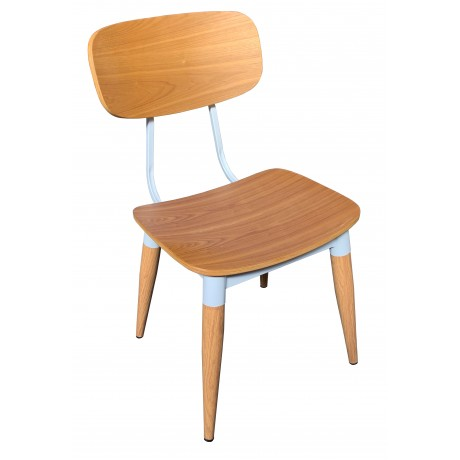 Poppy Chair with Steel Frame and Plywood Seat and Back