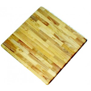 900mm Square Timber Rubberwood Table Top Bullnose - Natural