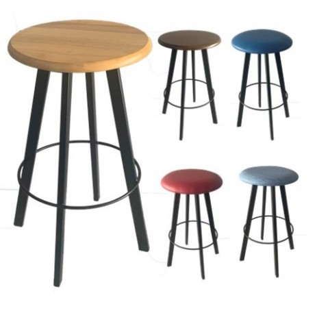 Brendale Bar Stool Assorted Seat Finishes Black Frame 750mm
