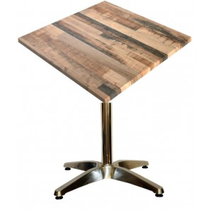 600mm Square Rustic Kansas Heat Proof Table Top on Standard Aluminium Base